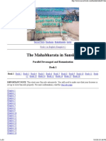 The Mahabharata in Sanskrit..