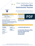 Le Cordon Bleu Master of Gastronomic Tourism Direct Application Form (v20130305)
