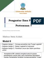 Pertemuan 7-Badan Legislatif dan Pemilihan Umum_rev1.pptx