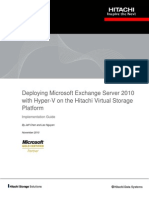 Deploying Microsoft Exchange Server 2010 Hitachi Vsp