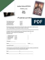 Robin Bridges Order Sheet