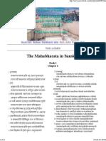 The Mahabharata in Sanskrit..2