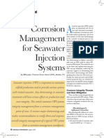 Corrosion Management for Seawater Injection Systems