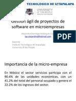 Gestion Agil de Proyectos de Software en Micro-empresas