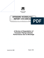 Review of Degradation of Firewater Piping and Nozzle Performance Due to Blockage