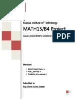 MATH15 Program Project