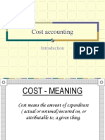 Cost Accounting- An Introduction