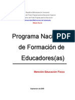 Programa Nacional de Formacion de Educadores