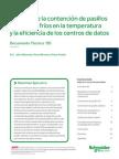 pasillos calientes y fríos en la temperatura y la eficiencia de los centros de datos