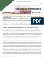 Educação Financeira para Crianças - capesesp.com