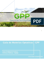 Guia de Optativas do Curso de Gestão de Políticas Públicas