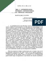 Historia y Antropología en Ciencias Sociales