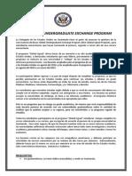 Flyer 2014 Global Undergraduate Exchange Program