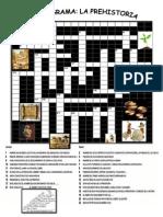 Crucigrama Prehistoria Pa Imprimir
