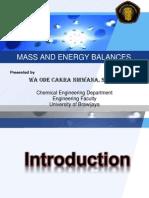 Neraca Massa Dan Energi