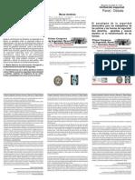 Folleto Invitacion Policial Congreso Seguridad DDHH y Memoria