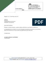 Carta Remisoria Olimpiada 2013