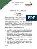 Reglamento de La Ley de Vialidad, Transito y Control Vehicular Del Estado de Campeche