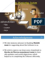 Online mentoring System