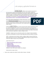 Insertar códigos de campos y aplicarles formato en Word