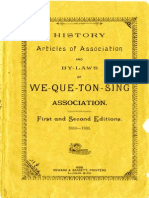 History Articles of Association and by-Laws of Wequetonsing Association