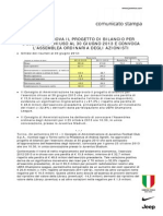 Bilancio Juventus al 30.06.2013 - Comunicato Stampa
