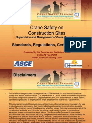 Crane Safety Standards_regulations | Occupational Safety And