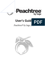 Peachtree Users Manual