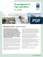 Environmental management in Arctic oil & gas operations - good practice guide - Executive Summary