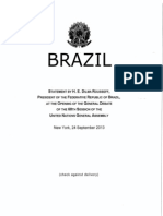 Statement by Brazil - 68th Session of the United Nations General Assembly