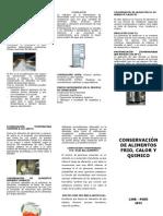 CONSERVACIÓN DE ALIMENTOS FRIO, CALOR Y QUIMICO