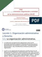 Lección 1 - Organización Administrativa y Derecho