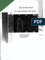 El Significado Del Filme - David Bordwell Cap.10 y 11