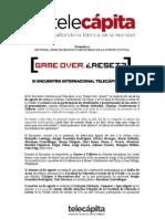 BOLETÍN DE PRENSA. III ENCUENTRO TELECÁPITA