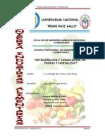 Refrigeracion y Congelacion de Frutas y Hortalizas ( Trabajos Para Presentar
