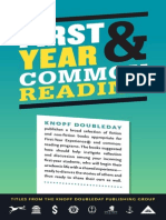 First-Year and Common Reading Catalog, 2014 from the Knopf Doubleday Publishing Group