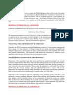 League of Women Voters 2013 guide on constitutional amendment proposals