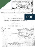 Garófalo - La Criminología