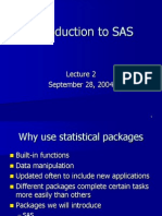 Intro to SAS - PowerPoint Presentation