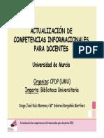 ACTUALIZACIÓN DE COMPETENCIAS INFORMACIONALES PARA DOCENTES