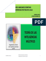 Teoria de Las Inteligencias Multiples 2012-20
