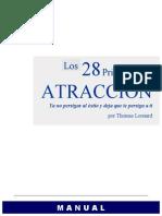 Los 28 Principios de Atraccion. Thomas Leonard. 2013