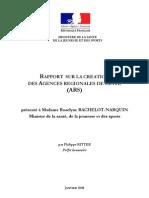 Rapport sur la création des Agences Régionales de Santé (ARS)