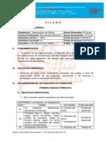 SILABOS ORGANIZACIÓN DE OFICINA