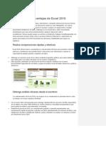 Características y ventajas de Excel