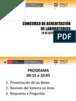 Concurso de Diagnóstico y Acreditacion de Laboratorios