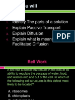 solutions and diffusion
