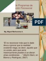 Diseño de Programas de Intervención Psicosocial