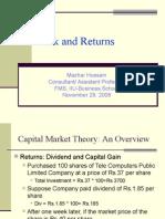 risk and returns- fin society-iiu business school 29-11-08