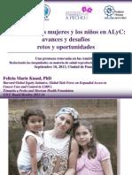 La salud de las mujeres y los niños en ALyC